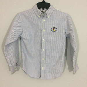 Disney Store Boys L Mickey Button Up Dress Shirt